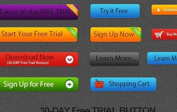 Free Vector Trial Button - vector gratuit #175025