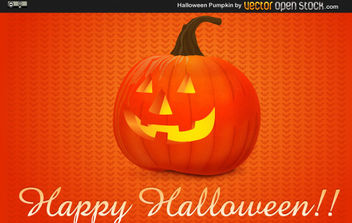 Halloween Pumpkin - Free vector #175215