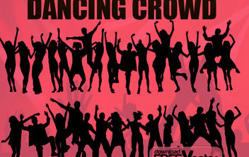 Free Vector Dancing Crowd - Free vector #175225