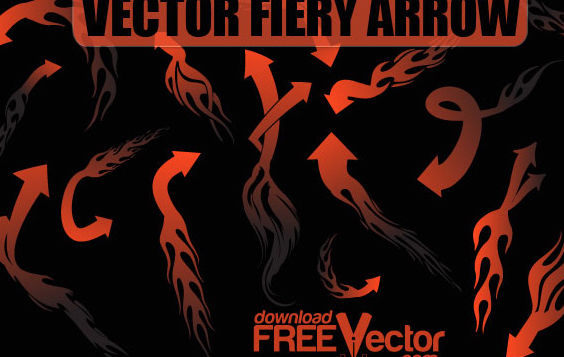 Free Vector Fiery Arrow - Free vector #175245