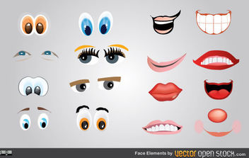 Face Elements - vector gratuit #175255