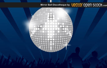 Mirror Ball Discotheque - vector gratuit #175285