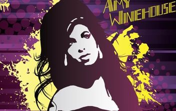 Amy Winehouse Vector Art - Free vector #175315