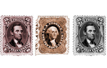 Vintage US President Postage Stamps - Free vector #175345