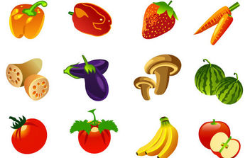 Free vector Fruits - vector gratuit #175355