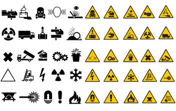 Warning Road Signs - vector gratuit #175485