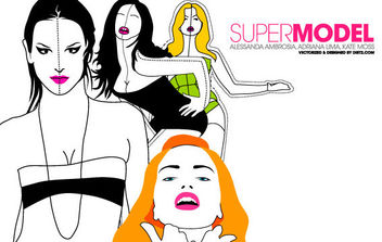 Supermodel Vector Pack - Kostenloses vector #175705