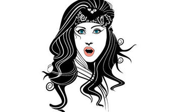 Gypsy Woman Vector - Free vector #175735