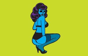 Zombie Pin Up - vector gratuit #175825