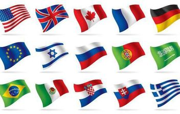 World National Flag Vectors - vector gratuit #175835