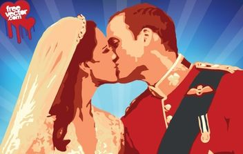 William Kate Kiss Vector - vector #175865 gratis