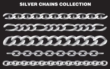 Silver Chains - vector #175895 gratis