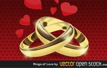 Rings of Love - vector gratuit #176355