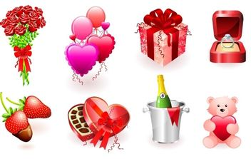 Vallentine's day illustrations - Free vector #176385