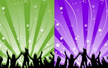 Dance Party Vector - Free vector #176425