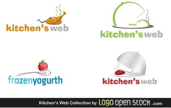 Kitchens Web logo Collection - vector gratuit #176445