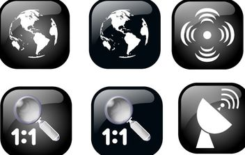 Ben Map Geolocalisation Icon Set - vector #176455 gratis
