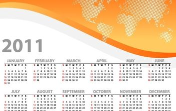 Colorful 2011 Vector Calendars - vector #176545 gratis