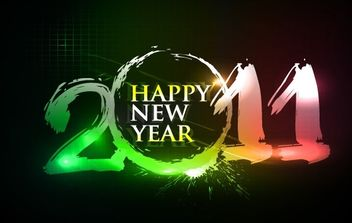 Happy new year 2011 eps Vector part03 - Free vector #176575