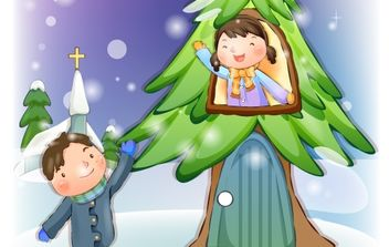 Xmas Child 02 - vector #176645 gratis