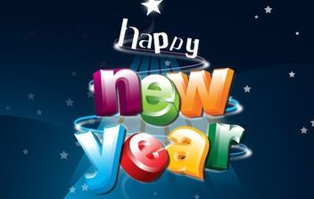 HAPPY NEW YEAR - vector #176685 gratis