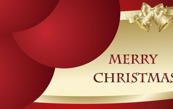 Free Merry Christmas Vector Card - vector gratuit #176695