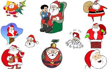 Simple Santa Vector Collection - Free vector #176715