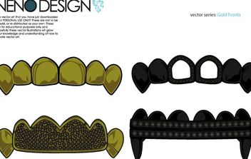 Gold Fronts - Free vector #176925