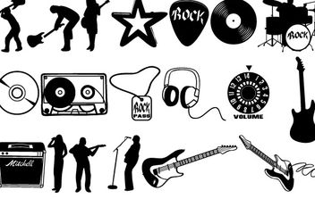 Rock vector set - vector #177035 gratis