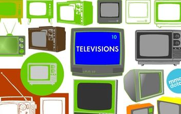 Vector Televisions - Free vector #177055