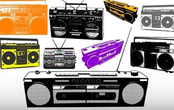 Different Radio & Music System Vectors - vector gratuit #177095