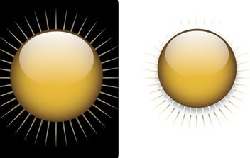 Gold button free vector - vector gratuit #177185