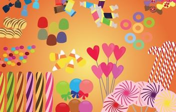 Vector Candies and Sweets - Free vector #177225