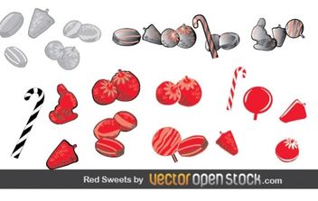 Red Sweets - vector #177375 gratis