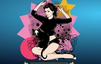 Pin-Up Girl - vector gratuit #177395