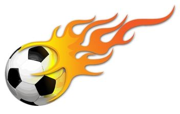 BALL ON FIRE VECTOR IMAGE - бесплатный vector #177405