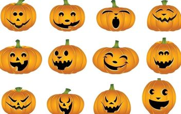 Free Halloween Vector Pumpkins - Free vector #177525