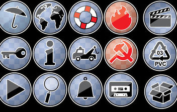 Icons - vector #177585 gratis