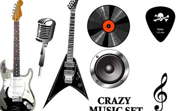 Musical Equipment - vector gratuit #177595