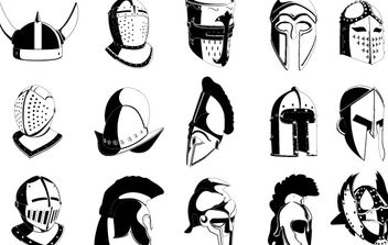 Lots of Helmets - vector gratuit #177675