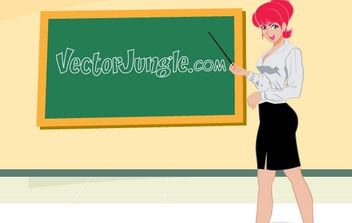 HOT FOR TEACHER - vector gratuit #177855