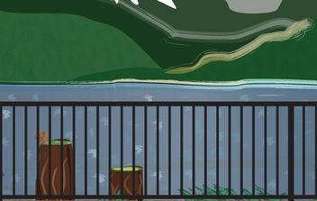 view from the lake - vector #177975 gratis