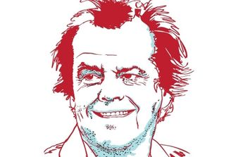 Portrait of Jack Nicholson - Free vector #178005