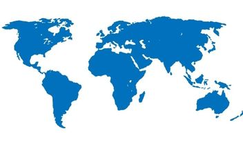 World Map Apart Blue - vector #178245 gratis