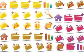 Vector icons set 3 - Free vector #178285