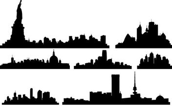 Free Vector City Skylines - Free vector #178385