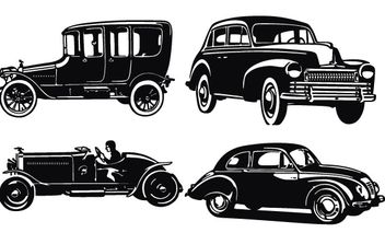 Old car silhouettes - Free vector #178415