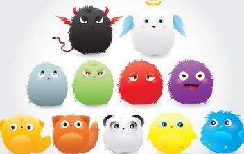 Furry Creatures - Free vector #178495