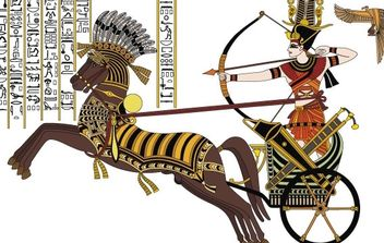 Ramesses II in the Battle of Kadesh - vector gratuit #178665