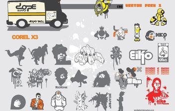 Vector Pack silhouettes, figures - бесплатный vector #178675